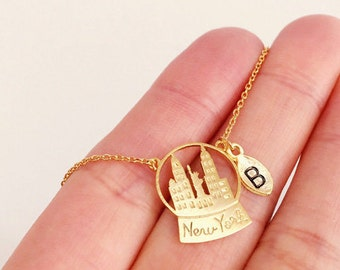 New York City Necklace, Personalized Necklace,  initial Necklace, NYC necklace, NYC Jewelry