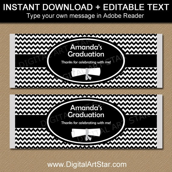 free printable graduation candy bar wrappers templates - graduation candy wrappers printable graduation candy