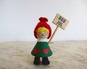 Bo Ström Sweden Girl God Jul Tomte Nisse Swedish Folk Art