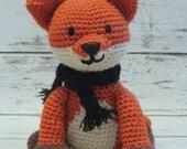 Meadow the Fox, Crochet Fox Stuffed Animal, Red Fox Amigurumi, Plush Animal, MADE TO ORDER