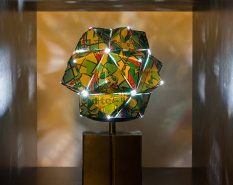 AriZona Iced Tea w/ Lemon Can Origami LED Light.  Upcycled Recycled Repurposed Art