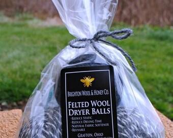 100% Felted Wool Dryer Balls