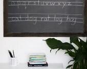"""Reclaimed Wood Framed Chalkboard - Homeschool Chalkboard - Chalkboard - Large Chalkboard - Farmhouse - 40"""" x 28"""""""