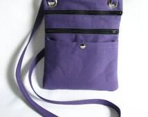 Hip bag- Lavender duck cloth canvas