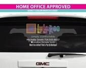 LuLaRoe APPROVED** LuLaRoe Rear Window Car Decal, LuLaRoe Personalized Window Decal, LuLaRoe Car Window Sticker