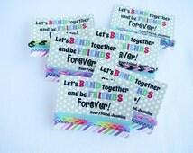 Rainbow Bracelets Loom Valentine Cards Printable Customized Classroom