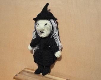Crocheted Witch, Amigurumi Witch, Halloween Witch