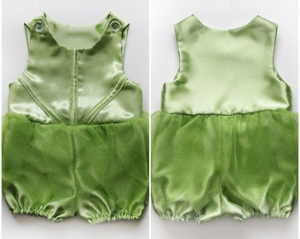 Baby Girls Tinkerbell Fairy Costume Romper Glitter Tulle Handmade Unique - Ready to Ship - Sz 1