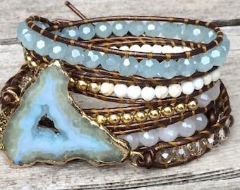 Druzy Geode bracelet/Belt