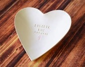 Baptism Gift - Large Personalized Heart Bowl  - With Gift Box