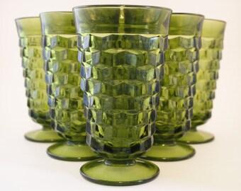 Green Glassware Set of 6