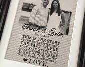CUSTOM Vintage Love Story Print - Photo - Wedding - Bridal Shower - Lyrics - Gift - Wall Art Decor - Eco - Recycled - DIGITAL Printable File