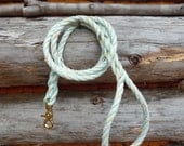Sea Green Handmade Salvaged Nautical Dog Leash. 2 dollars donated for every purchase!