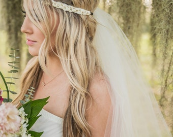 Boho Bachelorette Veil - Bachelorette Veil - Boho Veil - Boho Headband - Bachelorette Party Veil - Bachelorette Party