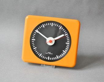 Vintage Krups clock, orange wall clock, West German clock, Krups 70s tangerine nectarine
