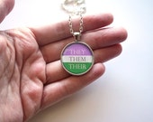 They Them Pronoun Necklace | Trans | Genderqueer | NonBinary | LGBTQ