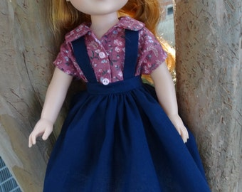 """14.5"""" Doll Clothes 1950's Style Outfit Fits American Girl Wellie Wishers Willa, Camille, Emerson"""