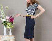 "Maritime Dress ""Nele"" with cosy pockets"