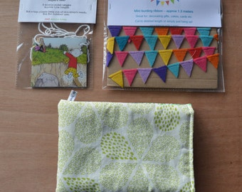 Handmade lucky dip gift bag with kindle case SALE