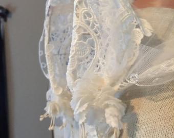 20s Look Long Train Vintage Wedding Veil