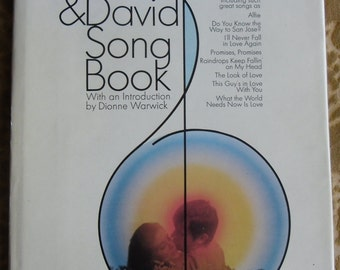Vintage Music Book - The Bacharach & David Song Book, Intro by Dionne Warwick, 1970 Simon and Schuster