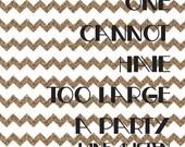 "Printable Jane Austen Quote - 8 x 8"" - Party, Gold, Black, Typography, Feminine, Girl, Woman, Birthday"