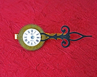 Time on Your Hands Tie Clip