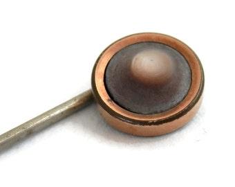 Operculum Cat's Eye Stickpin Victorian Era Men's Jewelry