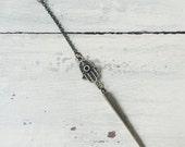 Talk to the Hamsa Necklace