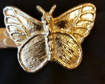 1970s Goldtone Metal Butterfly Belt