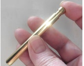 Solid Brass self cleaning one hitter tobacco pipe