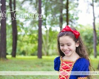 Snow White Red Bow Headband. Snow White Bow Headband. Baby Headband. Newborn Headband. Girl Headband. Photo Prop.