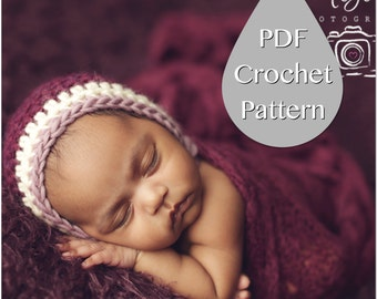 PDF Crochet Pattern #0013 for Newborn Chunky Bonnet - Welcome to sell finished items