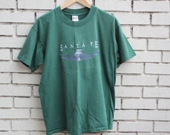 Vintage SANTA FE shirt Anvil tag New Mexico united states america state tourist clothing