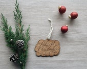 Baby's First Christmas Script Wood Ornament