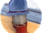 Blue Velvet Cloche Hat medium