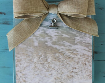 Summer picture frame 4x6 beach waves sand water