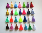 """Mini Jewelry Tassels with Contrasting Colored Binding for Jewelry Making and Designers Short Tassels for Home Decor 30+ Colors 1.25"""""""