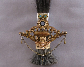ASSEMBLAGE ART DOLL - Art doll assemblage Metal art doll - Ollie Beth