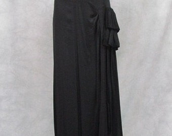 Plus Size 1940s Vintage Formal Dress Hollywood Red Carpet Black Classic Style Joan Crawford