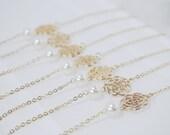 Ivory Swarovski Pearl - Bracelet - Bridesmaid Jewelry - Gold Flower