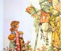 1912 W HEATH ROBINSON Children and the KING of Troy Print Ideal for Framing