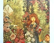 1913 W HEATH ROBINSON Children in the GARDEN Print Ideal for Framing