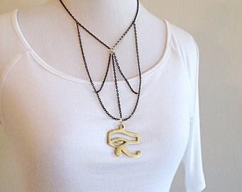 Esoteric Egyptian Eye of Horus Necklace
