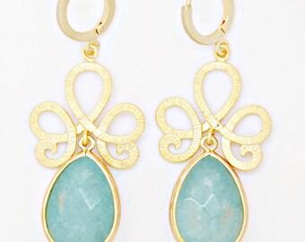 Delicate earrings - Blue