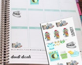 Laundry Chore Planner Stickers, Cleaning  Planner Stickers, Functional Stickers, Wash Day, Dirty clothes, Dirty Dishes, House Chores