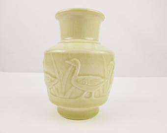 Rookwood Pottery 'Geese Landscape' Vase - No. 6547 - Marked Rookwood - Ivory to Cream Glaze Color - Crazed Glaze - Collectible 1958 Rookwood
