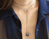 Sodalite lariat necklace