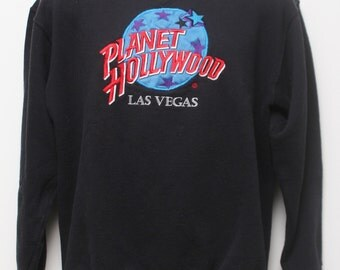 "Rare 90's Vintage ""PLANET HOLLYWOOD Las Vegas"" Sweatshirt Sz: MEDIUM (Men's Exclusive)"