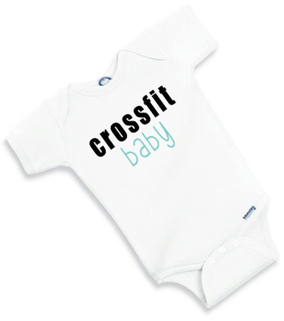 Baby esie Crossfit Baby BURPEED Crawl walk CROSSFIT cute